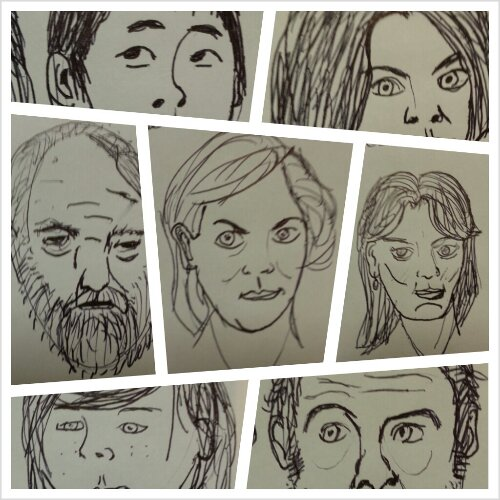 Walking Dead Sketches Part 1 of 2