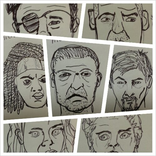 Walking Dead Sketches Part 2 of 2