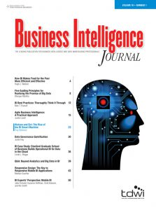 business intelligence journal Literature review of progress in business intelligence system research this paper reviews the 60 journals of business intelligence relates articles appearing in the international journal like proquest, ebscohost, emerald, science direct and ieee conference.