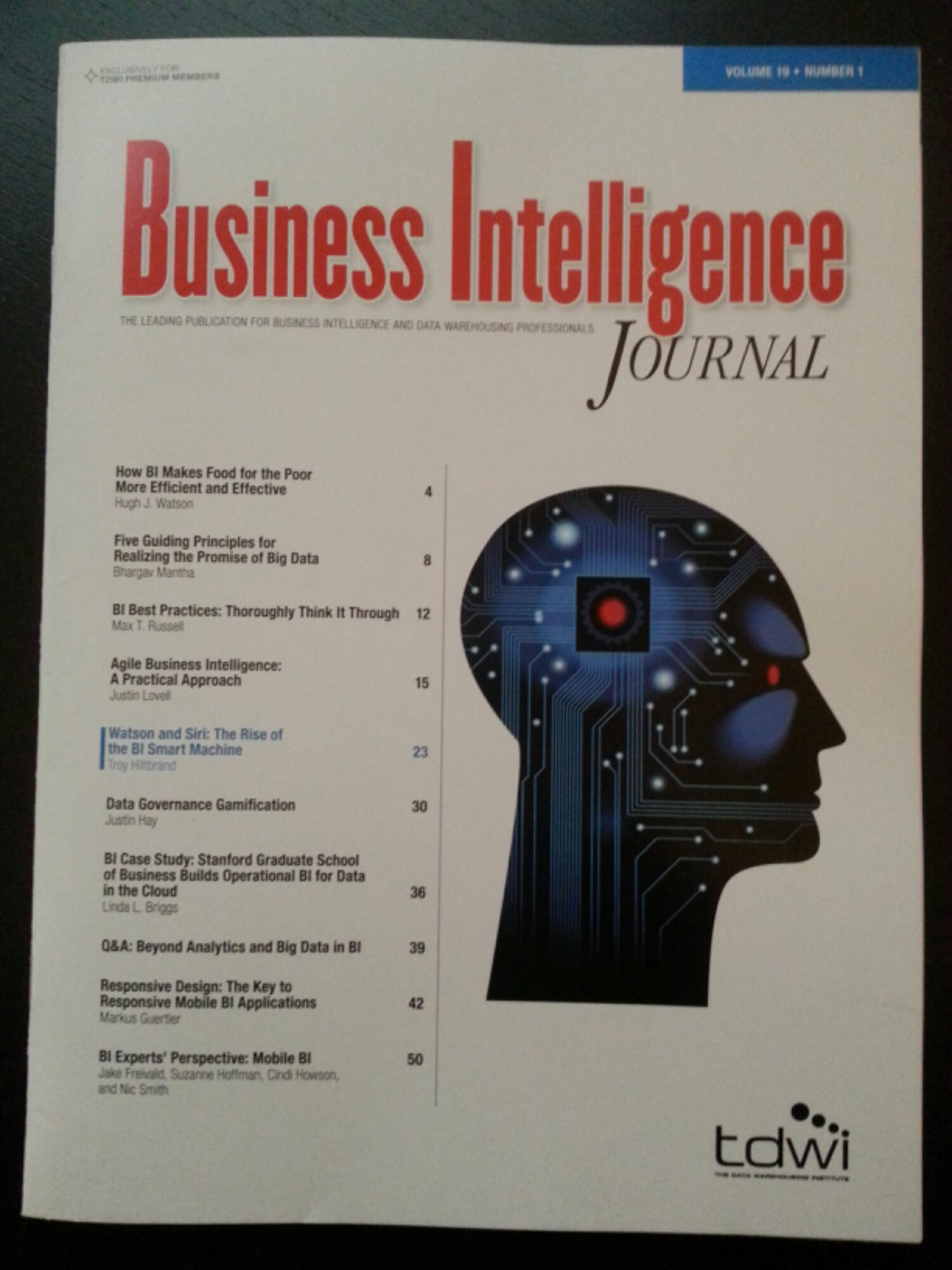business intelligence journal International journal of business intelligence and data mining (ijbidm) [entry reviewed:  mid-american journal of business (majb) [entry reviewed: 2010-02-02.